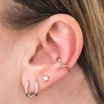 EAR CUFF ARGENTO 925% ROSE GOLD PLATED